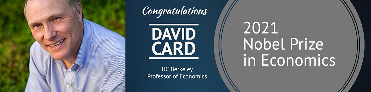 2021 Nobel winner David Card banner