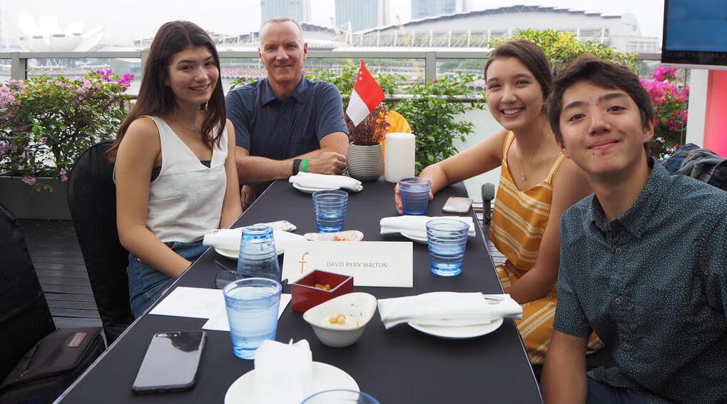 Walton Family in Singapore
