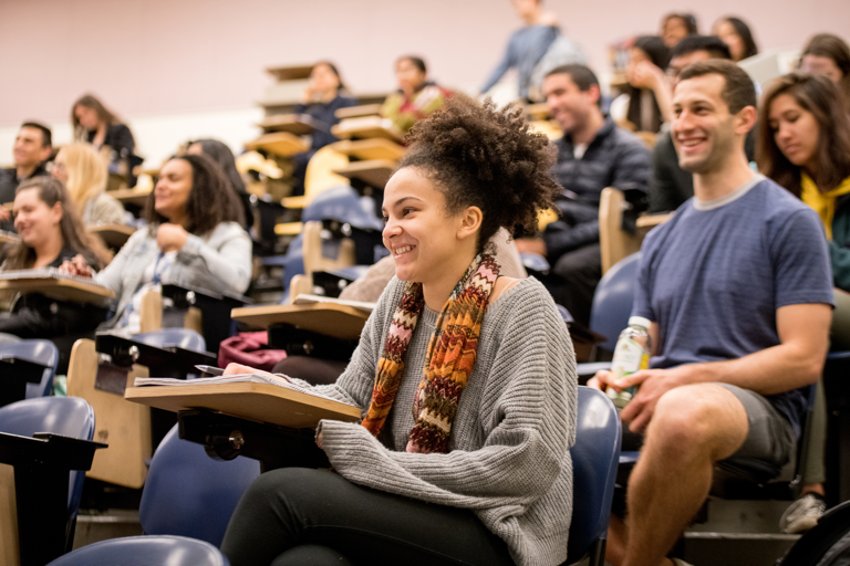 Students enjoying a lecture