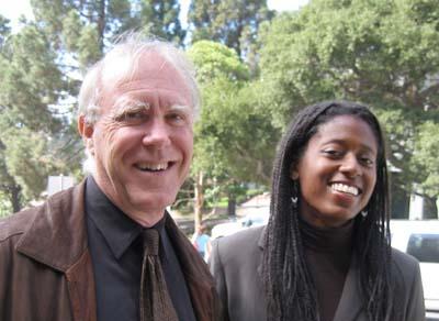 Photo of Robert Hass with Shanesha Brooks-Tatum