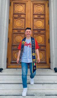 Pedro De Anda Plascencia '21 holds English and political science degrees