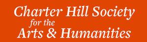 Logo with white lettering on orange background