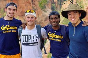 Cal Lightweight Row Team with Ethan Willbrand (far left)